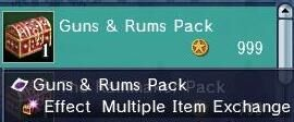 Uncharted Waters Online::Items : Guns & Rums Pack