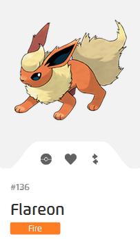 Pokémon GO::Items : Flareon-NO.136 - IV 98%+