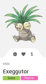Pokémon GO::Items : Exeggutor-NO.103 - IV 100%