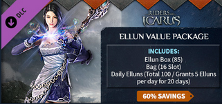 Riders of Icarus::Items : Riders of Icarus Ellun Value Package