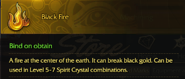 Revelation Online::Items : Black Fire*10