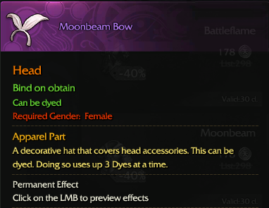 Revelation Online::Items : Moombeam Bow(Female eternal)