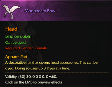 Revelation Online::Items : Moombeam Bow(Female 30days)