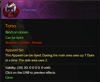 Revelation Online::Items : Visioary(Female 30days)