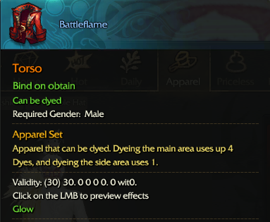 Revelation Online::Items : Battleflame(Male 30days)