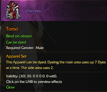 Revelation Online::Items : Visioary(Male 30days)