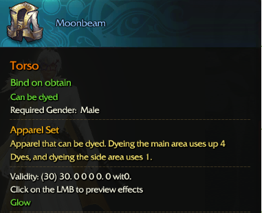 Revelation Online::Items : Moombeam(Male 30days)