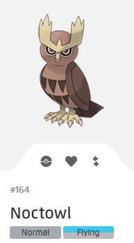 Pokémon GO::Items : Noctowl-NO.164