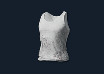 PlayerUnknown's Battlegrounds::Items : Dirty Tank-top (White)