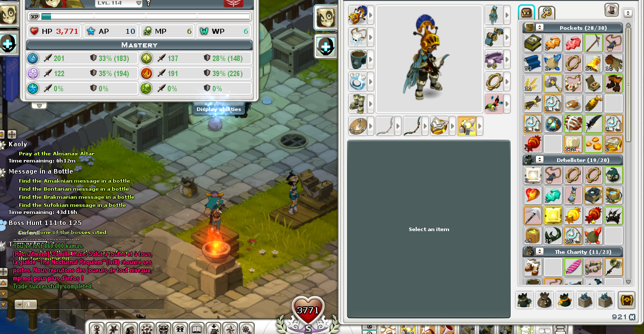 Wakfu::Items : Level:114   Sex:Male  Server: Dathura  Never Certified: yes