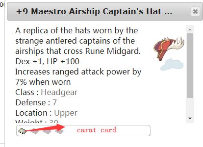 Ragnarok::Items : +9 Maestro Airship Captain's Hat 1