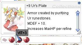 Ragnarok::Items : +9 Ur's Plate