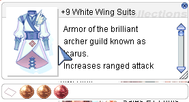 Ragnarok::Items : +9 White Wing Suits