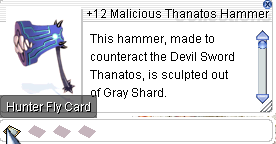 Ragnarok::Items : +12 Malicious Thanatos Hammer