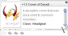 Ragnarok::Items : +13 Crown of Deceit
