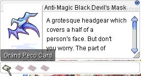Ragnarok::Items : Anti-Magic Black Devil's Mask
