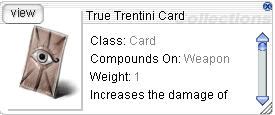 Ragnarok::Items : True Trentini Card