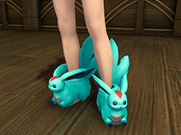 Final Fantasy XIV::Items : Emerald Carbuncle Slippers