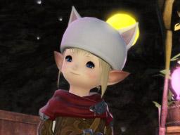Final Fantasy XIV::Items : Yellow-pommed Moogle Cap