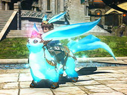 Final Fantasy XIV::Items : Mount: Aquamarine Carbuncle (Account-wide)