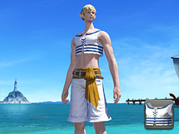 Final Fantasy XIV::Items : Striped Southern Seas Vest