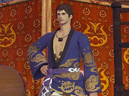 Final Fantasy XIV::Items : Blueflame Lord's Yukata