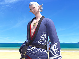 Final Fantasy XIV::Items : Blue Lord's Yukata