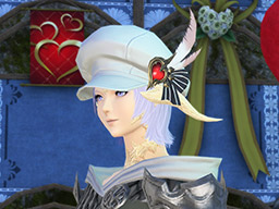 Final Fantasy XIV::Items : Red-feathered Flat Hat