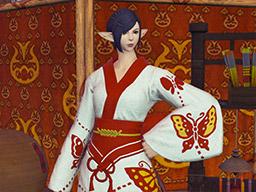 Final Fantasy XIV::Items : Redfly Lady's Yukata