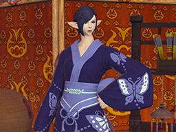 Final Fantasy XIV::Items : Bluefly Lady's Yukata
