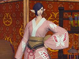 Final Fantasy XIV::Items : Pinkfly Lady's Yukata