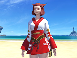 Final Fantasy XIV::Items : Red Lady's Yukata
