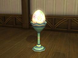 Final Fantasy XIV::Items : Authentic Egg Floor Lamp