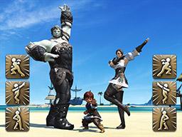 Final Fantasy XIV::Items : Emote: Go Go Posing Ranger Pose Set