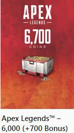 Apex Legends::Items : 6700 Coins