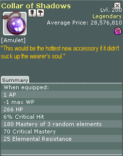 Wakfu::Items : Collar of Shadows