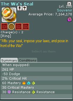 Wakfu::Items : The Was Seal