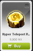 Maple Story::Items : Hyper Teleport Rock 1 days