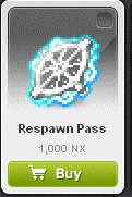 Maple Story::Items : Respawn Pass*5