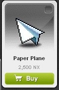 Maple Story::Items : Paper Plane