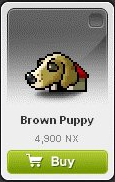 Maple Story::Items : Brown Puppy