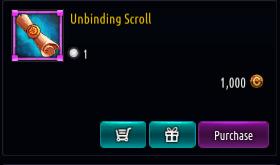 Kritika REBOOT::Items : Unbinding Scroll