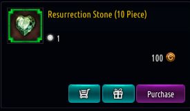 Kritika REBOOT::Items : Resurrection Stone (10 Piece)*10
