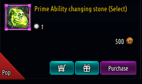 Kritika REBOOT::Items : Prime Ability changing stone (Select)