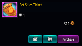 Kritika REBOOT::Items : Pet Sales Ticket
