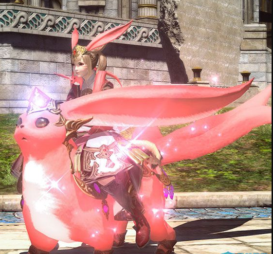Final Fantasy XIV::Items :  Mount: Rubellite Carbuncle (Account-wide)