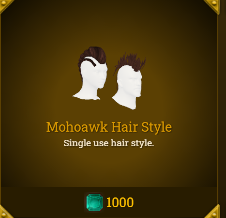 Legends of Aria::Items : Mohoawk Hair Style