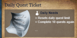Runes Of Magic::Items : Daily Quest Ticket