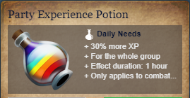 Runes Of Magic::Items : Party Experience Potion*5