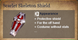 Runes Of Magic::Items : Scarlet Skeleton Shield